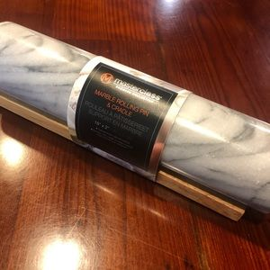 masterclass Kitchen - NWT Masterclass rolling pin and cradle marble
